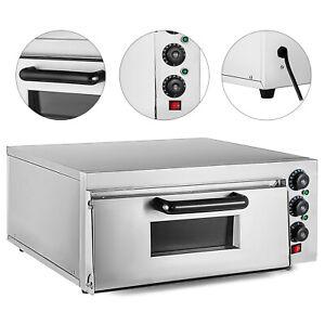 Electric-2000W-Pizza-Oven-Single-Deck-Ceramic-Stone-Bake-Broiler-Restaurant