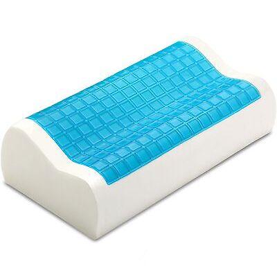 PharMeDoc Contour Memory Foam Comfort Cooling Gel Pillow Hypoallergenic Sleep