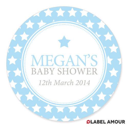 Personalised Baby Shower Birth Sticker Seals Labels Boy Girl03LA