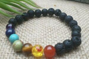 Edelstein-Armband-Lava-Lapis-Lazuli-Tuerkis-Tigerauge-Karneol-Perlen-8-mm