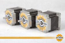 Actmotorgmbh 3pcs nema 23 motor PAP 23hs6620b 2a 56mm 1.26nm dual Shaft 6 leads