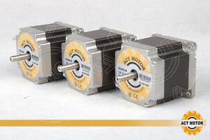ACT-MOTOR-GmbH-3PCS-Nema23-Stepper-Motor-23HS6620B-2A-56mm-1-26Nm-6Lead-6-35mm