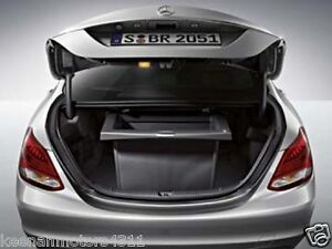 Genuine oem mercedes benz c class w205 black trunk comfort for Mercedes benz car trunk organizer