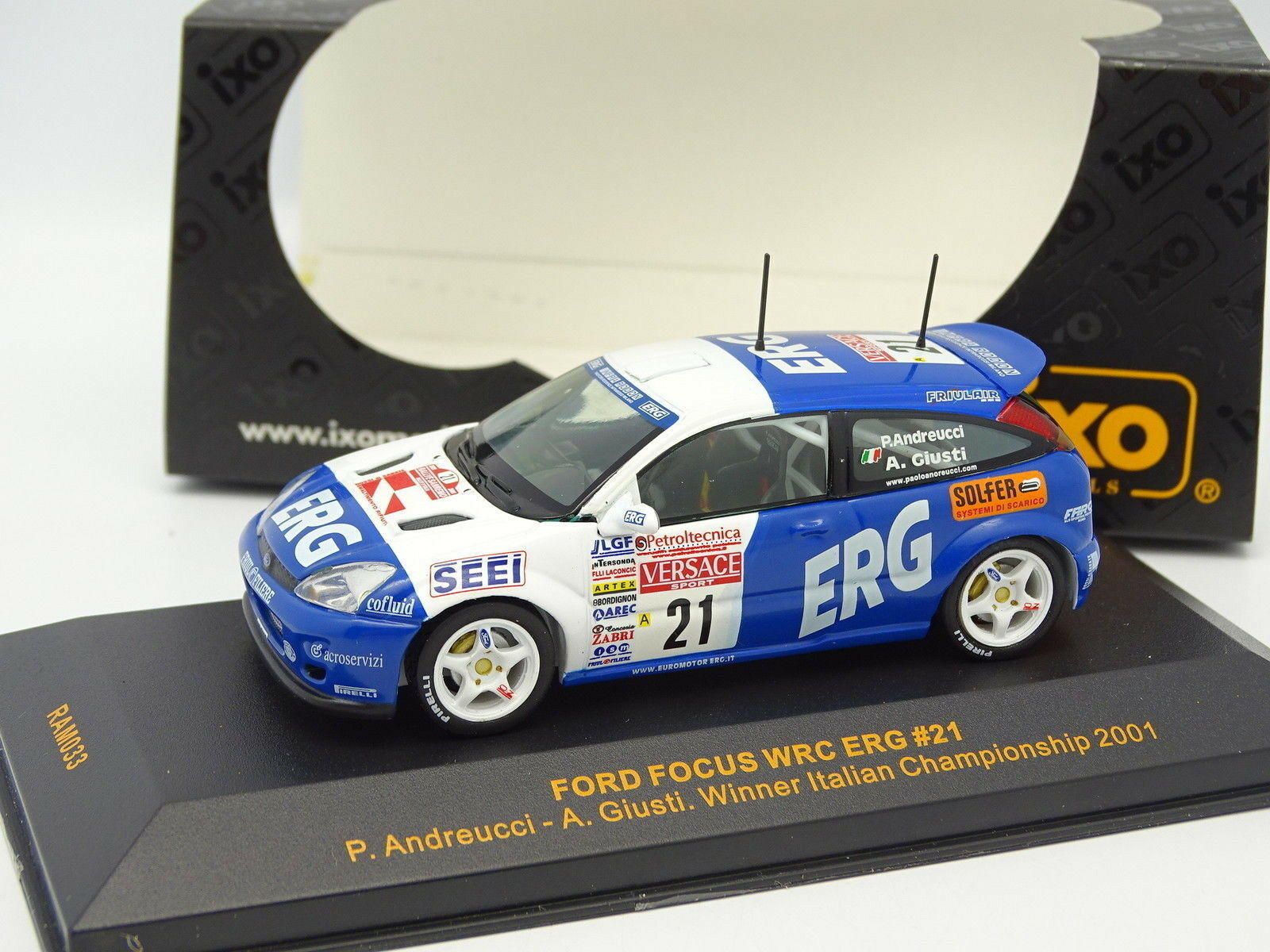 IXO 1 43 Ford Focus WRC ERG Winner Italian Championship 2001 NR ° 21