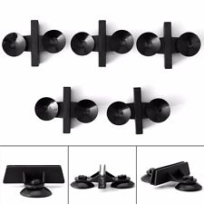 10pcs Aquarium Fish Tank Black Suction Cup Divider Plastic Sheet Holder