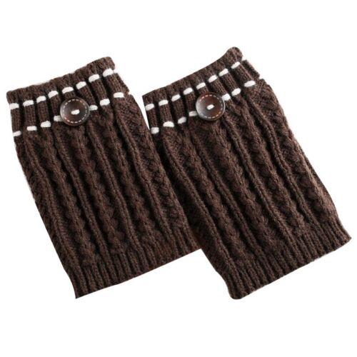 Women Knitted Boot Cuffs Crochet Toppers Winter Leg Warmers Elastic Short Liner