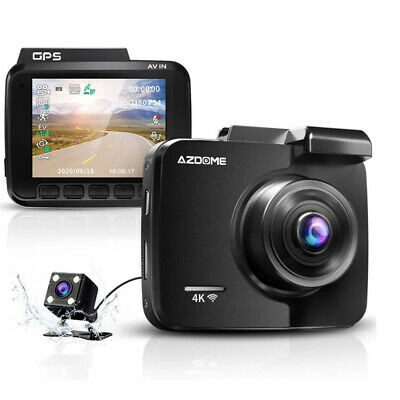 4k Dash Cam With Gps Wifi Car Video Dvr Recorder Dual Cameras For Front And Rear Ebay