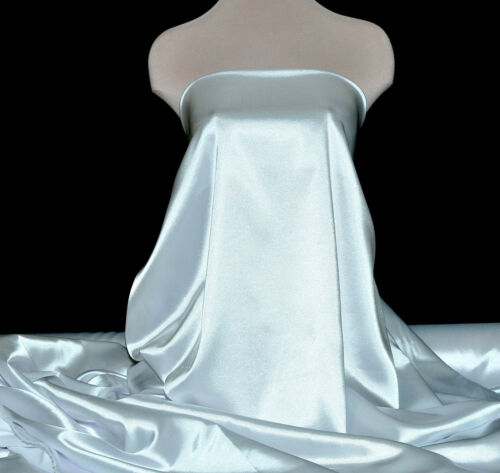 "STRETCH SATIN FABRIC WHITE 52/"" POLY//LYCRA BY THE YARD SLIPS LINGERIE CAMI"