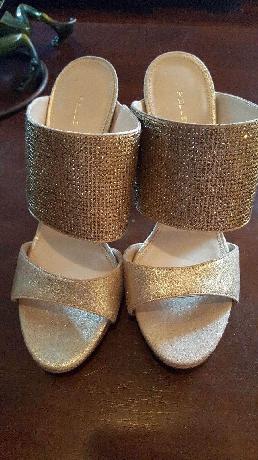 Pelle Moda Gold Glitter Stilettos Damenschuhe Heels Größe 8.5 NEU