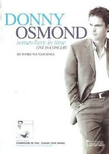 DONNY OSMOND Somewhere in Time 2003 2-sided UK FLYER / mini Poster 8x6 inches