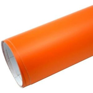 6-9-m-Premium-Auto-Folie-Orange-Matt-Luftkanal-Autofolie-Car-Wrapping-Film