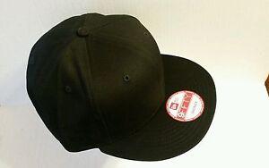 1X - New Era 9Fifty Flat Snapback Hat Cap Blank   BLACK   NE 9FIFTY ... ad86f163bb0
