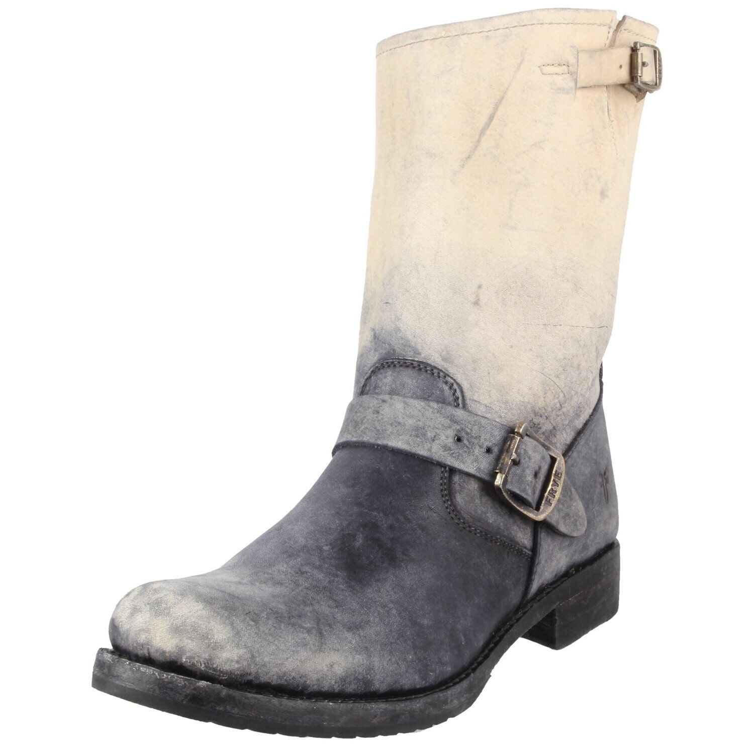 FRYE Veronica Short Ombre Stonewash Mid Calf Boot US 6M Stone