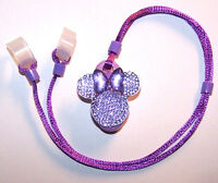 Childs 2 Sided Hearing Aids Safety Leash Loss Retainer Cord Clip ..purple Mouse