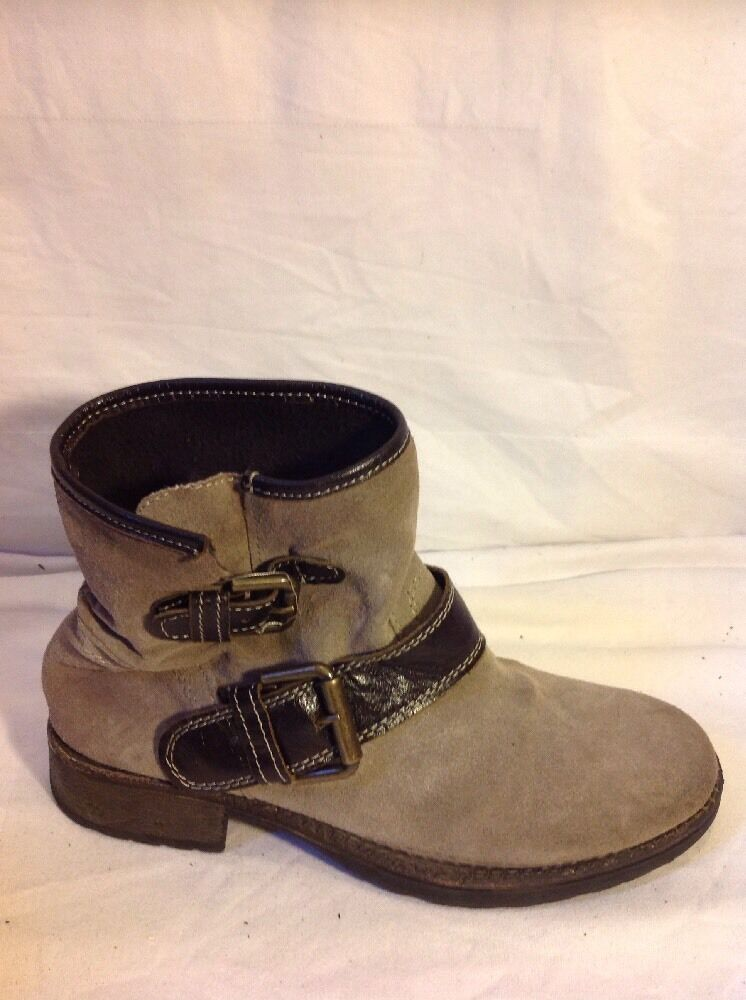 Sono Italiano Brown Ankle Suede Boots Size 37