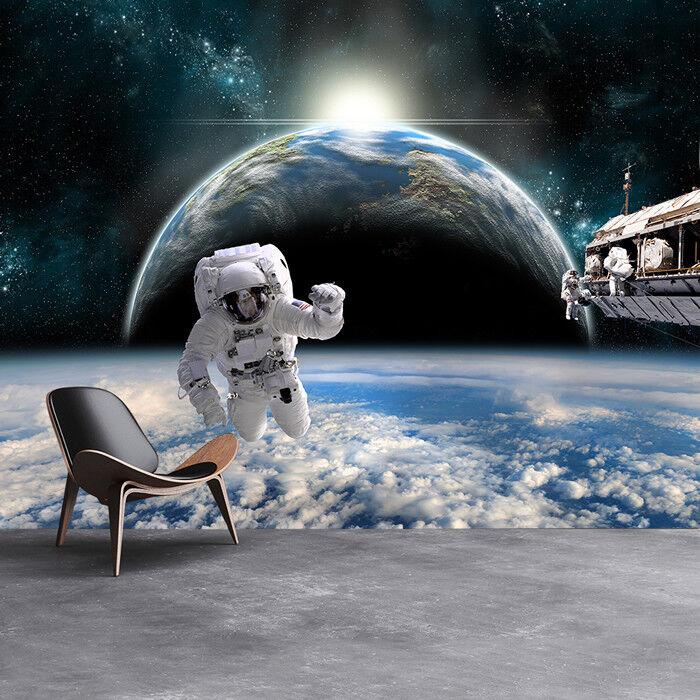 Astronaute Papier Peint Papier Photo Planète Terre Papier Peint Peint Garçons Chambre à c06f5d