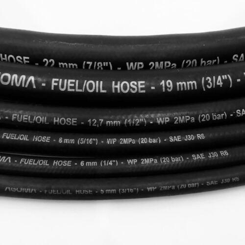 Baumwolle Über Zopf Gummi Kraftstoff Rohr Line Diesel Benzin Gas-Oil Schlauch