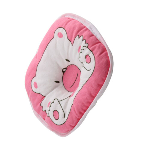 1*Cushion Pad Bear Pattern Pillow Newborn Infant Baby Support Prevent Flat Head