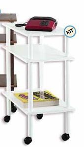 Carrello mobile porta tv in legno con vari scomparti e ruote valeria colore nero ebay - Carrello sposta mobili ...
