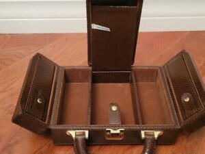 Cassini Jewelry Box (Brown Croco)