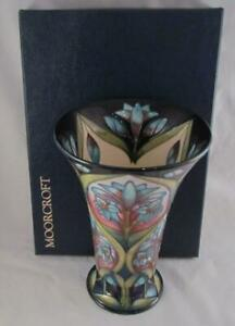 Moorcroft-2002-CLEOPATRA-9-034-Vase-Sian-Leeper-1ST-Quality-Inside-amp-Out-Decorated