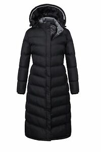 a8219f5dcd042 Women Plus size Hooded Winter Warm Full Length Padded Quilted Puffer ...