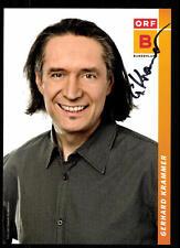 Gerhard Krammer ORF Autogrammkarte Original Signiert ## BC 52425