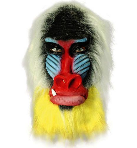 Rubber Overhead Mask Baboon Rafiki Fancy Dress