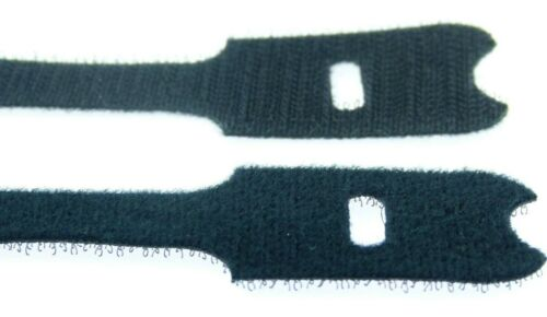 20 Klettkabelbinder ECO 300 x 28 mm schwarz Kabelbinder Klettband Kabelklettband