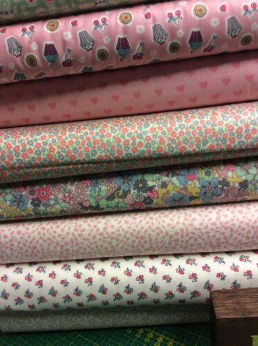 Fat Quarter Liberty Tea For Two Tea Party Cakes Cotton Quilting Sewing Fabric