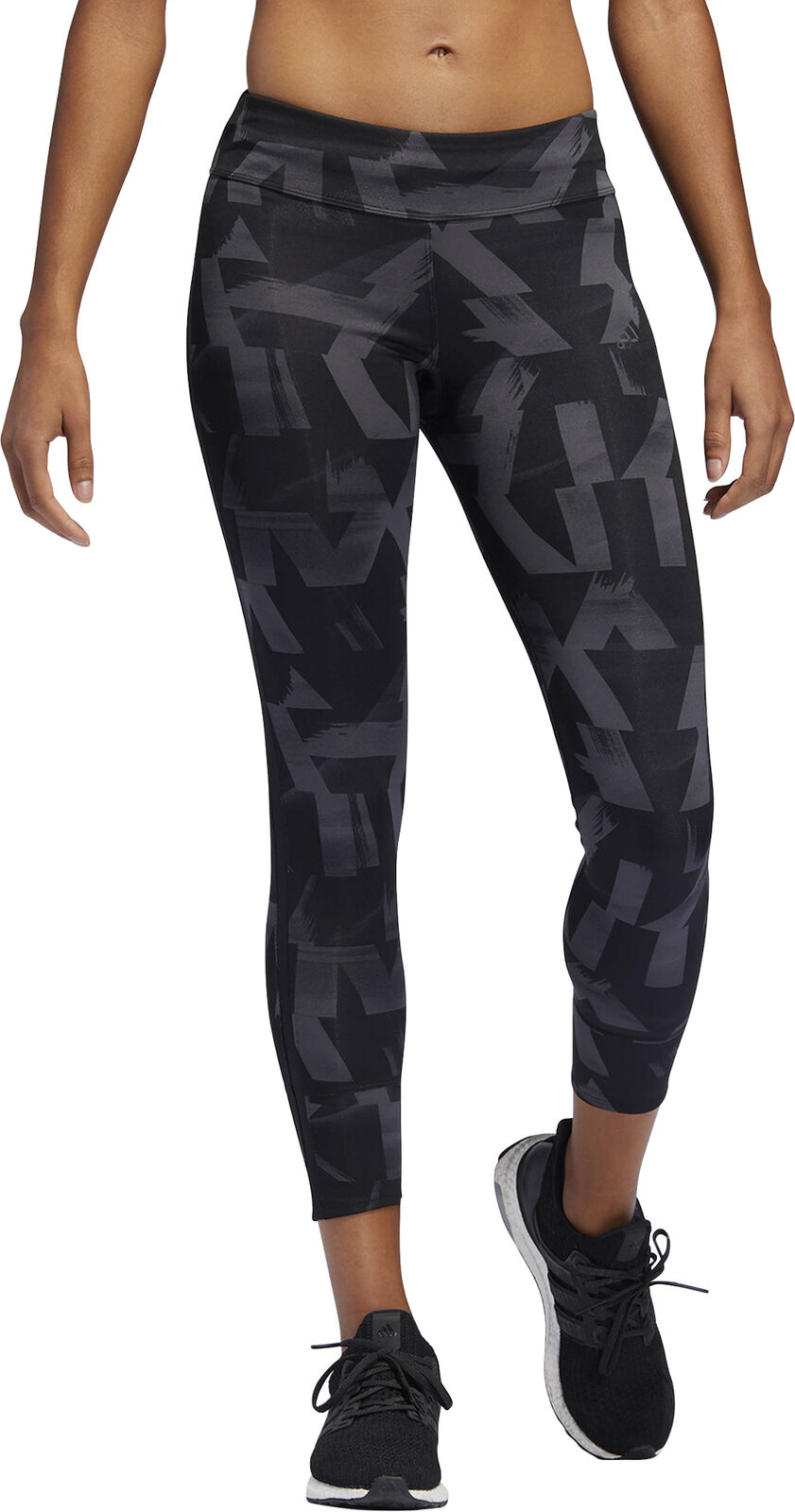 Adidas Own  The Run Speed Split Womens 7 8 Running Tights - Grey  incentive promotionals