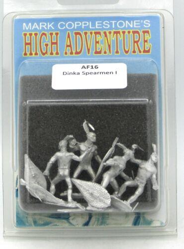 Darkest Africa Warriors NIB Copplestone AF16 Dinka Spearmen I High Adventure