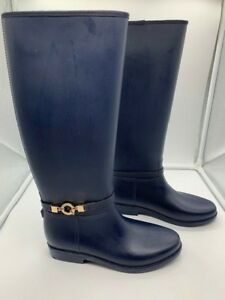 Details About Rugged Outback Skye Blue Waterproof Boots Women S 7 Rainboots Knee Tall