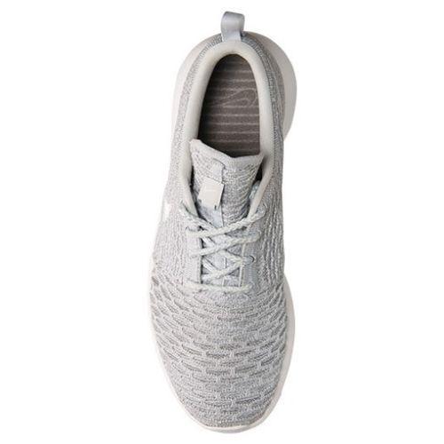 Original Wolf Nike Roshe Run One Flyknit Wolf Original Grau Weiß 704927 002 Frauen Größe 108729