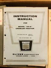 Original 1958 Oliver Ag 6 Crawler Tractor Instruction Manual