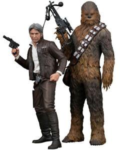 Kotobukiya Artfx Star Wars Han Solo & Chewbacca Pack de 2 Le réveil de la force