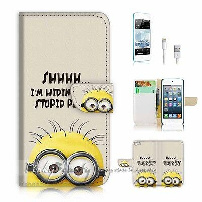 ( For iPod 5 / itouch 5 ) Flip Case Cover! P2153 Stupid Minion
