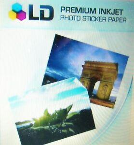 5-FULL-Sheets-Sticker-Paper-MATTE-WHITE-STICKERS-Inkjet-Laser-Printer-8-5-034-x-11-034