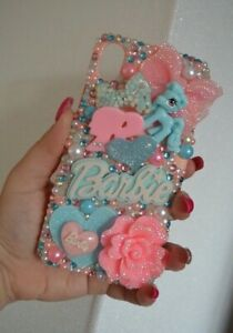 Iphone-XR-blue-pony-pink-little-doll-logo-iPhone-3D-kawaii-bling-Cover-hard-Case