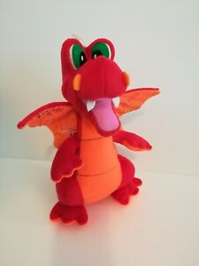New-Orange-12-034-Dragon-with-Sparkling-Wings-Plush-Stuffed-Toy