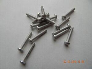 Combination Round Head Aluminum Machine Screw 1//4 In-20 X 2 In
