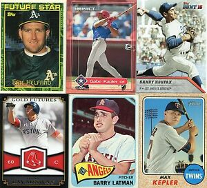 Details About 40 Jewish Baseball Player Cards See List Koufax Greenberg Plus Stars Rookies