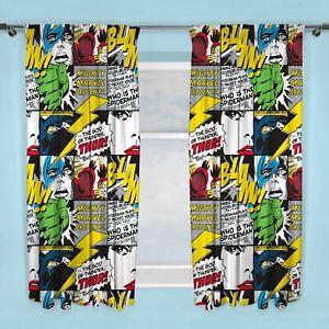 Officiel-Marvel-Comics-Gribouillage-Rideaux-Enfants-72-034-183cm