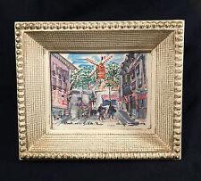 Vintage Paris France Small Framed Print Moulin De La Galette - PRIORITY MAIL