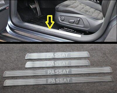 4PCS Car Door Sill Protector Stainless Steel Scuff Plate fit for VW Passat B5 B6 B7 1998-2018 Trim Cover Kick Threshold Welcome Pedal Styling Decoration Accessory