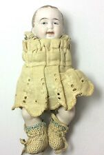 """All Bisque Limbach Baby Boy Doll 6"""" Antique 9109 Germany Dollhouse No Arms"""