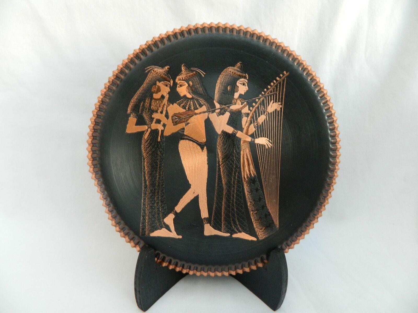 Agyptisch Kupfer Dekor Platte Muscians Hochwertig 19 7cm