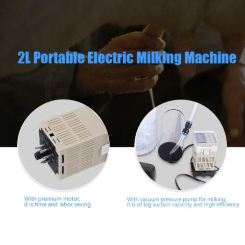 1 Set Elektrisch Melkmaschine Vakuumpumpe Regler 2L Melkeimer für Kuh Ziegen s0d