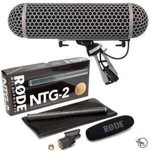 RODE-NTG-2-Shotgun-Condenser-Video-Camera-Microphone-Mic-amp-Blimp-Windshield