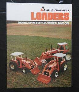 "1979 ALLIS-CHALMERS 175 185 5040 5050 7000 TRACTOR ""400 470 500 LOADER"" BROCHURE"
